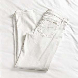 JOES JEANS | WHITE STRAIGHT ANKLE DENIM